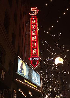 5th Avenue Theatre - 5th Avenue Theatre marquee, Holiday 2016
