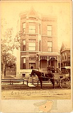 1880s Photo Of 653 W Wrightwood Now 655 In The Lincoln Park Neighborhood Typical Victorian Era Structures Area