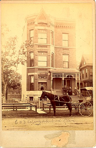 Dirt road - Image: 655 Wrightwood Avenue Circa 1880, Lincoln Park Chicago Illinois