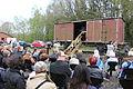 70. Jahrestag der Befreiung des KZ Bergen-Belsen, 26. April 2015 an der Verladerampe 02.JPG