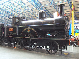 2-4-0 - LNWR's Improved Precedent class Hardwicke at York Railway Museum