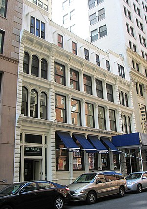 Maiden Lane (Manhattan) - 90-94 Maiden Lane, one of the few mid-19th century commercial buildings still standing in Lower Manhattan