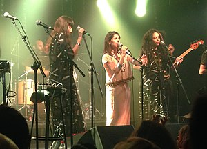 A-WA - A-WA in concert at Barby in Tel Aviv, September 2015.