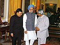 A.P.J. Abdul Kalam in conversation with the Prime Minister, Dr. Manmohan Singh as new Chief Vigilance Commissioner Shri Pratyush Sinha looks on at his oath taking ceremony, in New Delhi on September 07, 2006.jpg