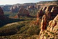 A071, Colorado National Monument, Colorado, USA, Monument Canyon and Independence Monument, 2002.jpg
