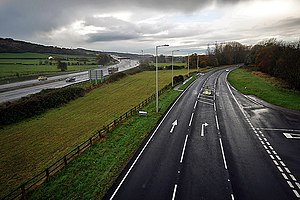 A369 road - The A369 road and M5 motorway near Easton in Gordano, Bristol