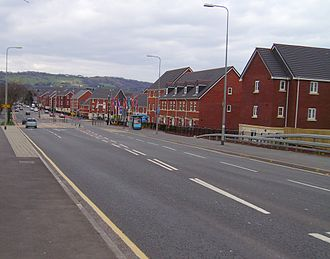 A469 road - Caerphilly Road, Cardiff, heading north to Caerphilly