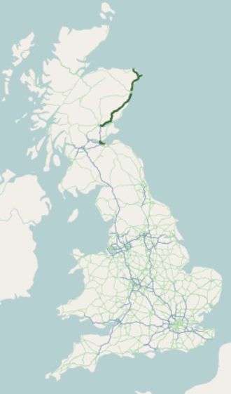A90 road - Image: A90 road map
