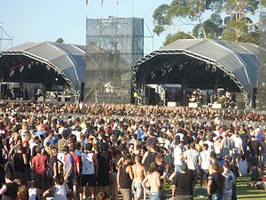 Soundwave (Australian music festival) - AFI playing on the main stage at Soundwave Perth 2010