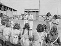 ALLIED WOMEN REPAIR NAVAL GEAR IN MEDITERRANEAN PORT. 6 AND 7 OCTOBER 1943, BEIRUT. SOME 150 GIRLS OF LEBANESE, ARMENIAN, GREEK, AND OTHER NATIONALITIES ARE WORKING FULL TIME FOR THE ROYAL NAVY. CLEANING AND PA A20010.jpg