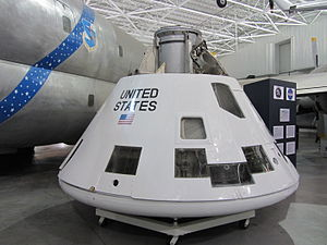 AS-201 - AS-201 CM-009 exhibited at the Strategic Air and Space Museum.