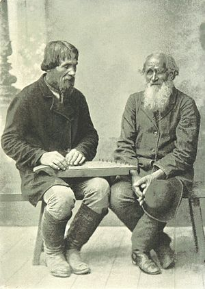 Kannel (instrument) - A Kantele Player from Finland (1897)