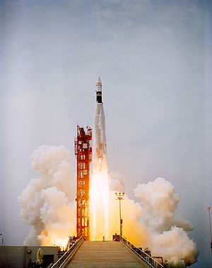 Atlas SLV-3 - ATDA atop an Atlas-SLV3 launch vehicle