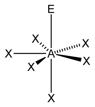 Pentagonal pyramidal molecular geometry - AX6E1