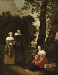 A Couple and a Shepherdess in a Landscape