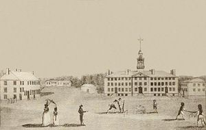 Hanover, New Hampshire - Students playing cricket at Dartmouth College in 1793