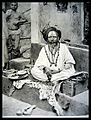 A Sadhu in front of his cell in Bhubaneswar in 1928.jpg