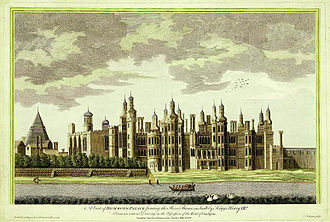 Richmond, London - Richmond Palace – a view published in 1765 and based on earlier drawings