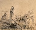 A crippled girl discarding her crutches after being healed a Wellcome V0016618.jpg