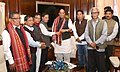 A delegation from Tripura led by Shri Jitendra Chaudhury, MP (Lok Sabha), calling on the Union Home Minister, Shri Rajnath Singh, in New Delhi on Thursday, November 24, 2016.jpg