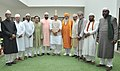 A delegation of heads of eminent Khanqahs and Dargahs led by the Chief of Ajmer Sharif, calling on the Union Home Minister, Shri Rajnath Singh, in New Delhi on September 26, 2016.jpg