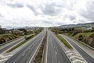 Deserted A1 road near Newry