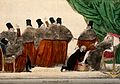 A group of seven clergymen watch as a physician bathes the f Wellcome V0011661.jpg
