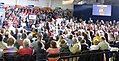 A large crowd gathers at Carroll University's Van Male Field House in anticipation of an appearance by Congressman and VP hopeful Paul Ryan of Wisconsin. (8091038034).jpg