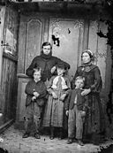 A man, woman and three children NLW3364917.jpg