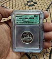 A silver proof state quarter of USA, graded by ICG (Independent Coin Grading).jpg