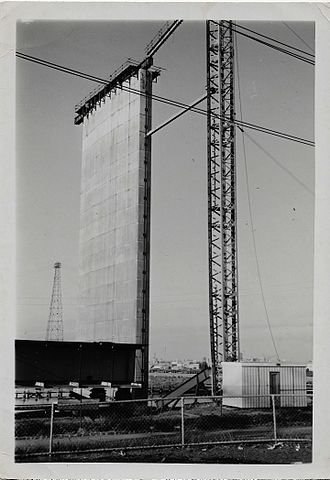 West Gate Bridge - A single column of the Westgate Bridge during construction. (date unknown)