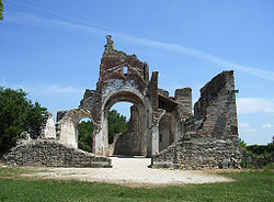 Remains of the Abbey of Sant'Eustachio.