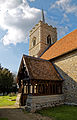Abbess Roding - St Edmund's Church - Essex England - south porch and tower, as shot 65-40.jpg