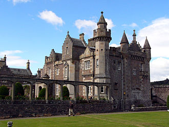 Romanticism in Scotland - Abbotsford House, re-built for Walter Scott, helped to launch the Scots Baronial revival.