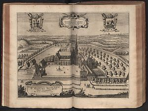 Dieleghem Abbey - Dieleghem Abbey, engraving by Lucas Vorsterman II, published in Sanderus, 'Chorographia sacra Brabantiae (1659)