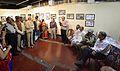 Abhoy Nath Ganguly - Addressing - Opening Ceremony - Atanu Ghosh Solo Exhibition - Kolkata 2013-12-05 4648-4650.JPG