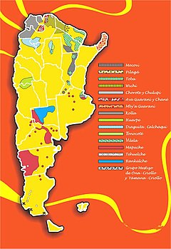 Indigenous Peoples In Argentina Wikipedia - Map of us and canada indiginous popullationns