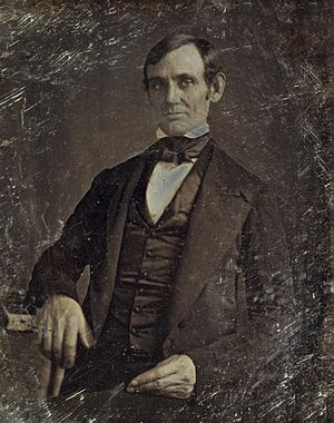 Abraham Lincoln - Lincoln in his late 30s as a member of the U.S. House of Representatives. Photo taken by one of Lincoln's law students around 1846.
