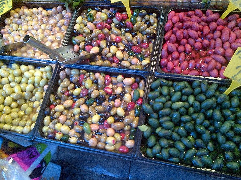 Aceitunas coloradas