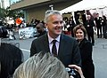 "Actor Tim Robbins arrives at ""The Lucky Ones"" premiere during the 2008 Toronto International Film Festival held at the Roy Thomson Hall on September 10, 2008 in Toronto, Canada (2849895555).jpg"