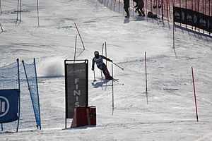 Adam Hall (alpine skier) - Hall in the slalom event at the 2013 IPC World Championships
