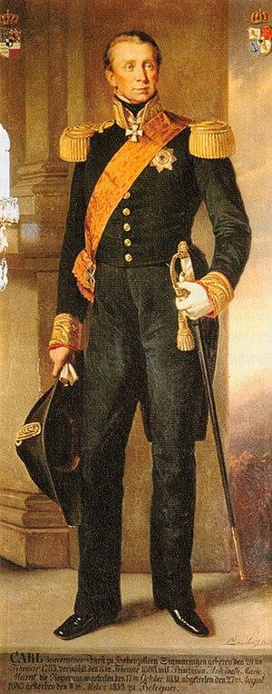 Karl, Prince of Hohenzollern-Sigmaringen - Prince Karl in 1852