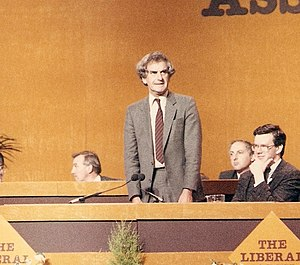 Adrian Slade - Adrian Slade addressing the Liberal Party Assembly in 1987