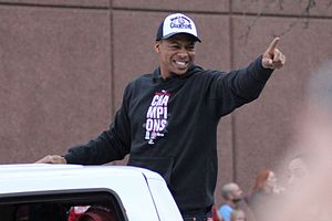Adron Chambers - Chambers during 2011 World Series parade