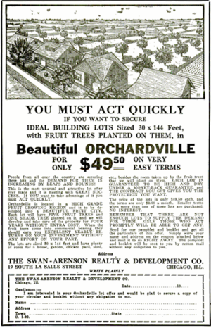 The Crisis - A 1920 advertisement in The Crisis magazine for a plot of land