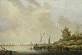 Aelbert Cuyp - A River Scene with Distant Windmills NG NG NG2545.jpg
