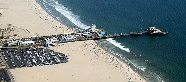 Aerial view of the Santa Monica Pier 2