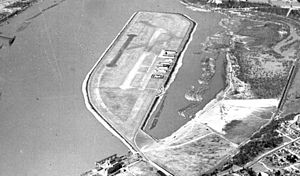 Swan Island Municipal Airport - The airport photographed in 1935