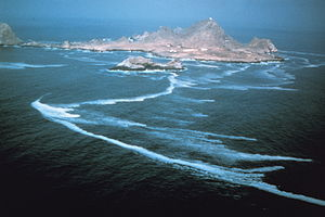 Farallon Islands - Aerial view of the Southeast Farallon Island from the south