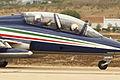 Aermacchi MB-339 PAN (10) de los Frecce Tricolori de la Aeronautica Militare Italiana (14917939934).jpg